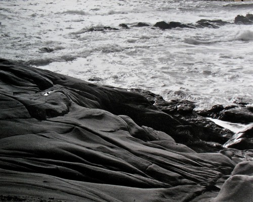 Dark Sandstone Against White Surf, Pt. Lobos © SR Euston
