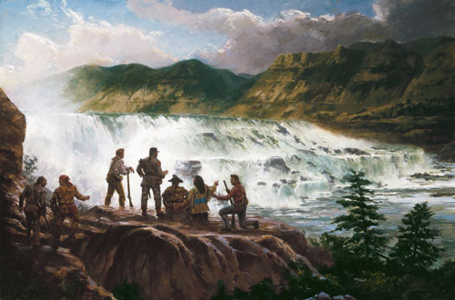 Lewis and Clark at Great Falls, MT courtesy of Jim Carson