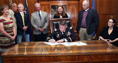 9/17/13 Signing the MOU Courtesy of the Army Corps of Engineers