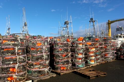 On the Dock at Port Orford © SR Euston