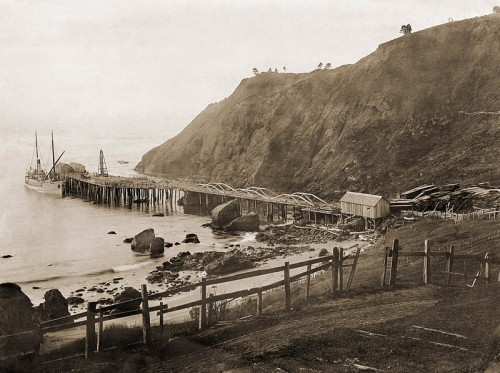 Port of Port Orford circa 1910 courtesy of earth-sea imagery