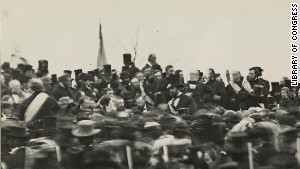 "This is the only confirmed photo of the Gettysburg Address. It is called the ""Bachrach"" photo and is in the collection of the Library of Congress"