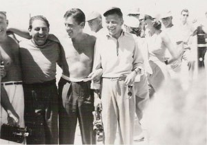 Guy Lombardo, Jerry Lewis and Frank Sinatra at the Salton Sea photo courtesy of the Salton Sea Museum